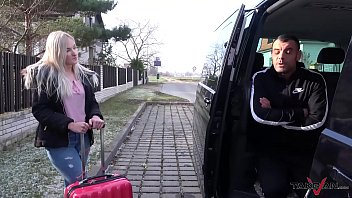 Stupid Young Blonde Belive Fake Taxi Came For Her & Let Stranger Fuck Her Raw