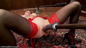 Busty MILF squirts while gets dildo