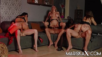 MARISKAX Orgy with Mariska and her friends - Part 3