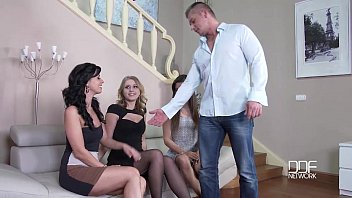 DDF Network-One Cock Stuffs 3 Shaved Pussies And Asses