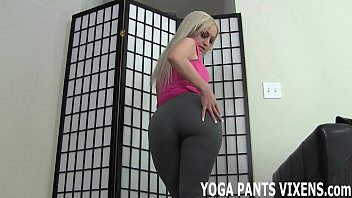 These yoga pants really hug my freshly shaved pussy JOI
