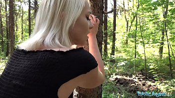 Public Agent Blonde teen Marilyn Sugar fucked in the woods