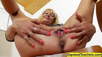 Fake huge penis - Curvy milf riding a huge fake penis