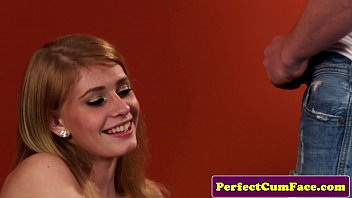 Redhead model takes facial