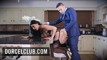 Anal sex in the kitchen with Ania Kinski