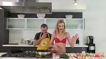 CUM KITCHEN: Tall Blonde Babe Alexa Grace Gets her Pussy wrecked in the Kitchen 11 min