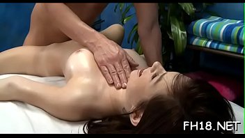 This sexy 18 year old hot girl gets fucked hard from behind by her masseur