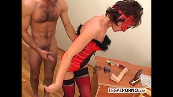 A couple fucking hard with toys NL-11-03
