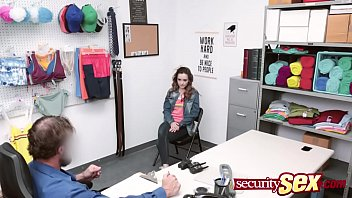 Streaming Video Redhead teen enjoys fucking the security guard instead of going to jail from stealing from the shop. - XLXX.video