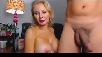 Hot sensual blonde fucked by a juicy cock live on adult chatroom