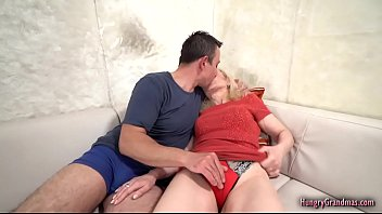 Sexy granny cant resist fucking with a hard cock
