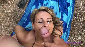 Fucked with a known milf on the beach, mega blowjob and big ass fucked