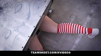 Cheap homemade adult halloween costume ideas - Exxxtrasmall - petite redhead in costume gets tricked and fucked