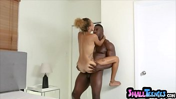 Battle of the sizes Extra tiny ebony pounded by a BBC