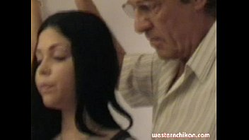 Old gropers young girl's big breasts grabbed by old man part1a