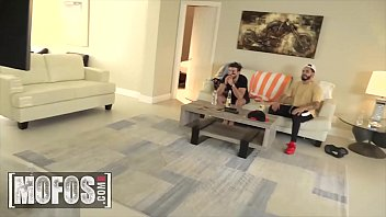 Boys Watching The Game While Hottie (Monica Asis, Jaye Summers) Fucking - Mofos