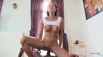 Hardcore Interracial Anal Pounding in POV for Abbie Cat with a hot anal creampie