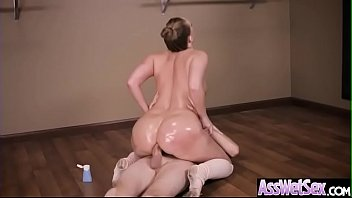 (Harley Jade) Huge Round Oiled Ass Girl Hard And Deep Anal Nailed clip-17