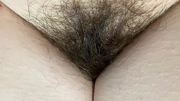 extreme close up on my hairy pussy huge bush 4k HD video hairy fetish