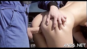 Phallus loves to penetrate filthy brunette Susan Ayn's taco