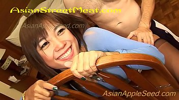 Asian Makeup Artist In Chains And Thong