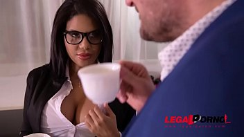 Busty secretary Kesha Ortega gets her Latina tits &amp_ pussy fucked at office GP806