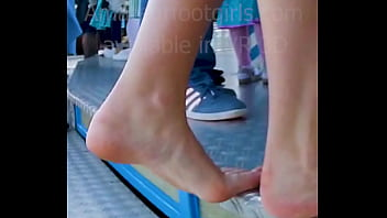 My girlfriend is s. out of her sweat ballerinas flats, Shoeplay, Dipping, Barefoot