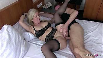 German Mother Seduce the Young Boy next Room Fuck in Hotel