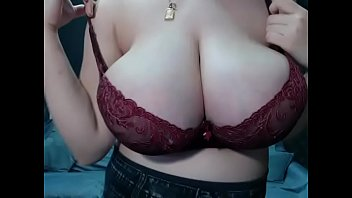 Pregnant showing amazing tits
