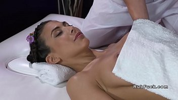 Skinny babe gets massage and orgasms