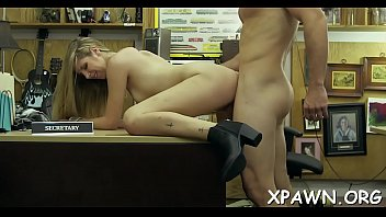 Joy loving and playful amateur is drilled behind the counter