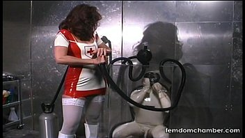 Nurse in latex - Erotic asphyxiation breath play femdom