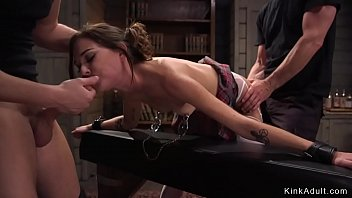 Beauty deep throat and anal fucked