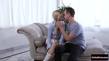 Stepbro makes petite stepsister squirt 6 min