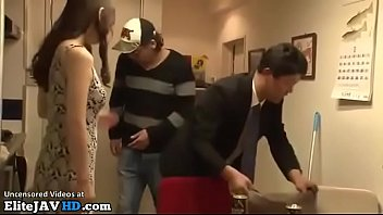 Japanese Busty Wife Fucks The Friends Of Her Husband