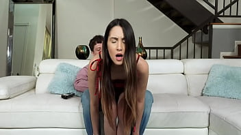 Natalia wants the television remote and wanna herself get drilled by her husband too!!