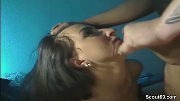 German Teen in Homemade Blowjob Video after Party