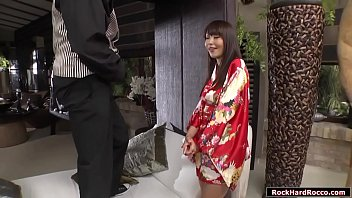 Busty japanese geisha licked and analed reamed by black dick