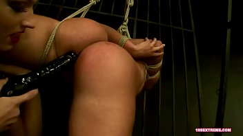 Suspended Bitch Dominated by Mistress