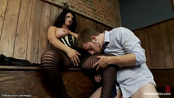 Businessman fucked by TS candy girl