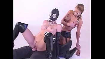 Hot threesome for latex addicts