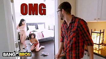 BANGBROS - Aaliyah Hadid's Hot Threesome With Dad's New GF Misty Stone