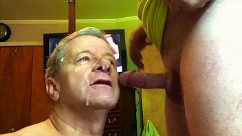 Neal Gives Awesome Blowjobs, this Stud Cums like a Horse all over Neal's cocksucking Face