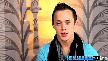 Happy gay couple Kain lanning and jayden ellis get interviewed by producer