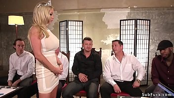 Luxury wife gets the gift of gangbang from her Kinky Husband