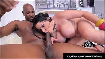 Image: Cuban BBW Angelina Castro Sits On Big Black Cock For A Sale!