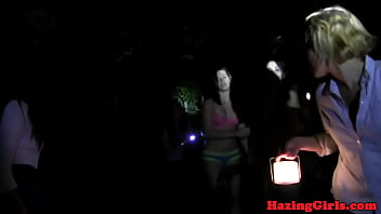 Real amateur teens toyed during hazing ritual