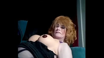 Cum swallowing tranny shows her mouth watering ass getting fucked close up