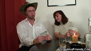 Strip Poker Leads To Threesome