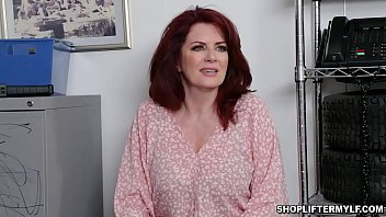 Hot abd busty shoplifter MILF Andi James gave her pussy after being caught stealing and got fucked with the officer inside the office.